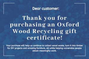 OWR Gift certificate sample