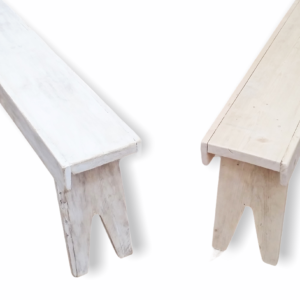Two wooden benches with Cider style legs