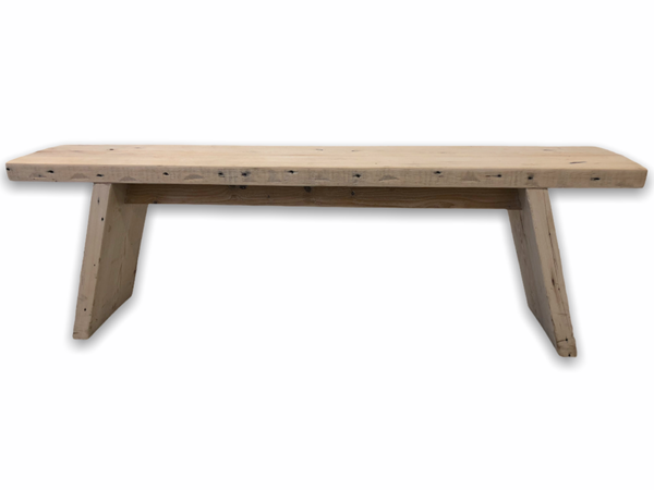 Front view of a modern style wooden bench