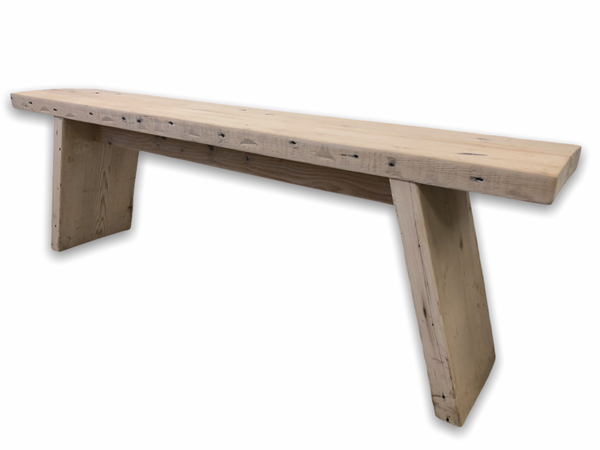 Modern design wooden bench seating up to three adults