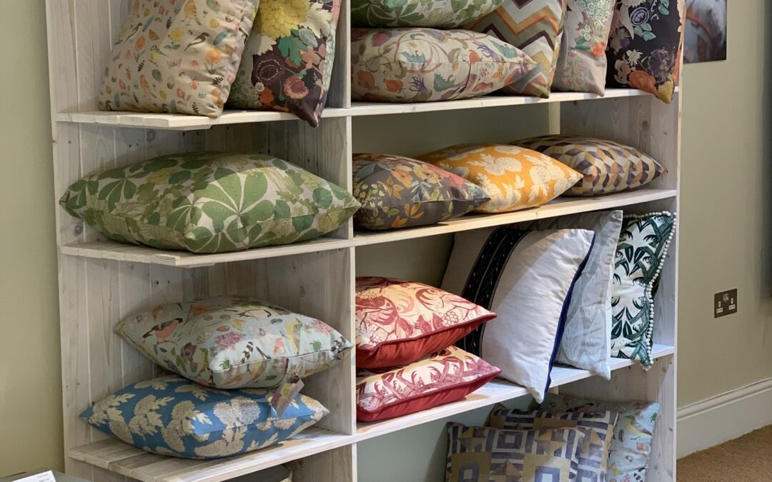 A display fit for the finest cushions